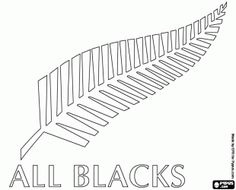Free Logo of the New Zealand national rugby team, All Blacks. Emblem, the silver fern coloring and printable page. Free Printable Coloring Pages, Coloring Pages For Kids, Rugby Cake, Stencils For Kids, All Blacks Rugby, Silver Fern, Kiwiana, Free Silver, Ferns