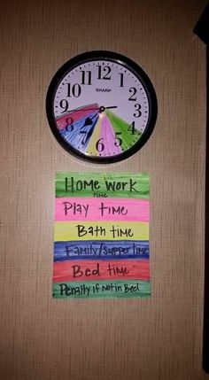 Interesting way to help children manage time and understand time. Not a fan of the penalty but this is very clever