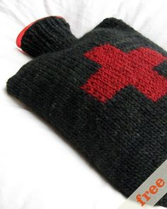 Free knitting pattern for two sizes of hot water bottle cozies...yes, my family still uses them ;)