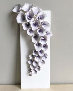 Artbyjenf ceramic plaque flower art wall art home decor sculpture handmade floral art handbuilt ceramics clay pottery ceramic studio flowers delicate flowers abstract art hanging ceramics abstractart You spoke, and I listened, Purple got the most votes! Clay Wall Art, Ceramic Wall Art, Clay Art, Ceramic Pottery, Ceramic Decor, 3d Wall Art, Ceramic Clay, Home Decor Sculptures, Art Sculpture