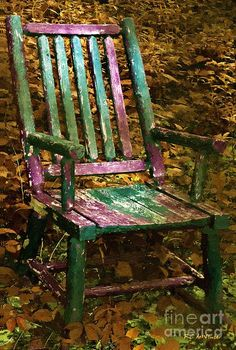 The Motley Chair~RC deWinter old garden chair