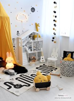 Set up a children's room in yellow and design it – … – Curtains 2020 Baby Bedroom, Baby Boy Rooms, Baby Room Decor, Kids Bedroom, Baby Room Ideas Early Years, Curtains Childrens Room, Baby Room Neutral, Baby Room Design, Girl Room