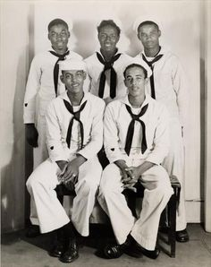 FINE MEN IN UNIFORM | 1940s    Five young sailors pose for a group portrait in the Harris Studio, ca. 1940-1946. Charles Teenie Harris, photographer. Teenie Harris Photograph Collection, 1920-1970, Carnegie Museum of Art    via Black History Album, The Way We Were