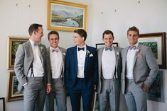 & Mark's Fun Vintage Wedding By The Water Groom in blue and groomsmen in grey suits. Fun Vintage Wedding By The WaterGroom in blue and groomsmen in grey suits. Fun Vintage Wedding By The Water Groomsmen Attire Grey, Bridesmaids And Groomsmen, Groom Attire, Wedding Bridesmaids, Wedding Dresses, Wedding Groom, Fall Wedding, Prom Dresses, Vintage Wedding Suits