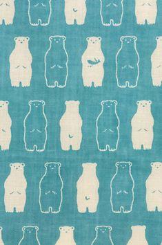 Tissu de coton japonais Tenugui serviettes Kawaii White Bear, ours polaire…
