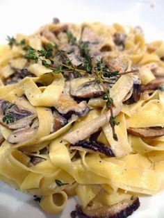 Scrumpdillyicious: Wild Mushroom Tagliatelle with Marsala Cream Sauce