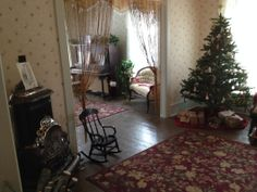 The front and back parlor of Betsy's House (Maud Hart Lovelace's childhood home), December 2013. One can almost hear the old familiar carols...