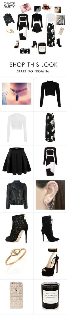 """Black & White + A Touch of Color"" by nikki947 on Polyvore featuring WearAll, Topshop, Doublju, Antonio Berardi, Alexander McQueen, Otis Jaxon, Dolce&Gabbana, Tory Burch, Prada and Nikon"