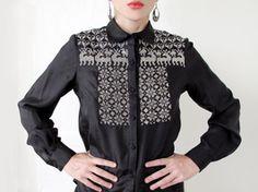 Yakampot Embroidered Silk Blouse