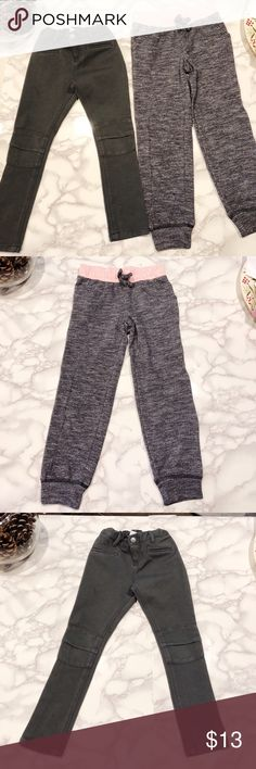 """Bundle of 10 pieces of clothes XS/5T **Old Navy Gray Jeggings size 5T (Adjustable waistband) **Old Navy Gray/Pink Lightweight Sweatpants size 5T **Gap Pink Sweater size XS  **Gap Blue Sweater size XS **Gap pink Tee XS **Lemon Kiss Leopard Fleece Coat Size 4/5 **The Children's Place Hearts Fleece Sweater size XS **The Children's Place Pink Woven Jeggings NWT size 5T (length 22' Waist 11') **The Children's Place Long Sleeve Gray Shirt Size XS **The Children's Place Long Sleeve """"World's Best…"""