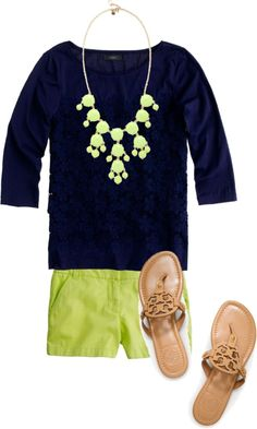 Navy and bright