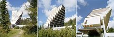 Hotel Panorama - Hotel with bigger floor plans the higher up you go Birth: 1965 Location: Strbske, Slovakia Architect: Zdenek Rihak