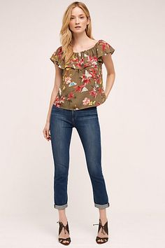 Paige Carter High-Rise Slim Jeans #anthropologie