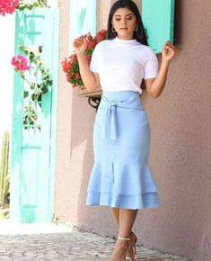 56 Casual Summer Outfits That Always Look Great Modest Wear, Modest Outfits, Classy Outfits, Skirt Outfits, Modest Fashion, Stylish Outfits, Dress Skirt, Casual Dresses, Fashion Dresses