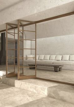 Lounge Design, Design Room, Home Design, Interior Design Minimalist, Salon Interior Design, Interior Design Inspiration, Interior Modern, Design Ideas, Hotel Lobby Design