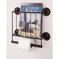 This magazine rack–and–TP holder combo, because nothing in a small apartment can have only one job. Tissue Paper Storage, Magazine Organization, Toilet Paper Dispenser, Magazine Holders, Magazine Racks, Ideas Magazine, Magazine Storage, Bathroom Hardware, Bathroom Storage