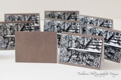 Mini Photography Enclosure Cards, Black & White Photo of Iron Bench, Small Business and Boutique Supplies