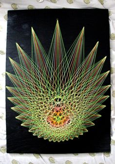 string art astral projection wall piece by xDreameater on Etsy, $150.00