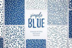 Seamless patterns and badges set by Jallom on @creativemarket (promoted)