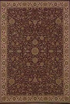 Brighton Traditional Brown/Ivory Area Rug