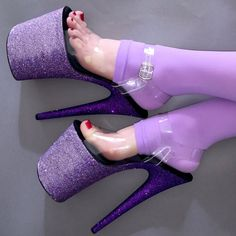 Sexy High Heels, High Heels Boots, Extreme High Heels, Beautiful High Heels, Platform High Heels, Shoe Boots, Shoes Heels, Purple Ombre, Purple Love