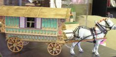 Caravan completed by Bernice Rosenberg, Design: Michelle Faleshock, www.michellesminiatures.com Custom horse harness: Reuben Kulp, www.kulpe...