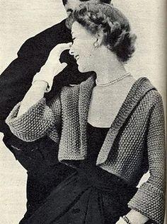 Vintage Crochet Patterns, Loom Knitting Patterns, Vintage Knitting, Knitting Tutorials, Stitch Patterns, Sewing Patterns, Jumpsuit Pattern, Jacket Pattern, Trendy Fashion