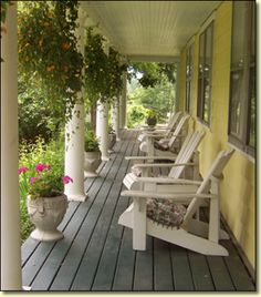 Porch | Thornewood Inn located in  Great Barrington, MA.
