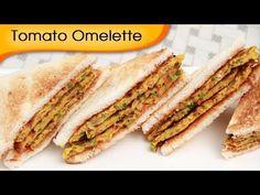 Tomato Omelette - Eggless Omelette Sandwich - Vegetarian Recipe By Ruchi Bharani [HD] - YouTube