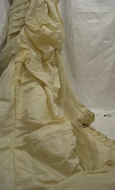 The train of a late 1870s wedding dress. Collection: Royal Pump Room/Harrogate Museum.