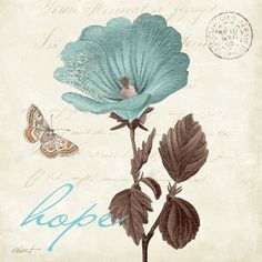 Touch of Blue III, Hope Pósters por Katie Pertiet en AllPosters.es