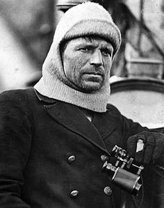 """""""Captain Frank Worsley"""" on the Trans-Imperial Antarctic Expedition. Worsley was second in command he took charge of one of the lifeboats, in which he guided the crew towards a distant speck on the far distant and unseen speck on the horizon that was Elephant Island."""