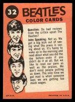 1964 Topps Beatles Color #32  John/Dog/Ringo  - John Speaking  Back Thumbnail