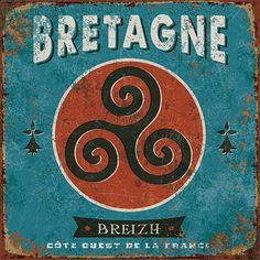 vintage tourism © bruno pozzo 2017 Vintage Labels, Vintage Signs, Vintage Ads, Vintage Images, Vintage Posters, Vintage Style, Breizh Ma Bro, Region Bretagne, Celtic Nations