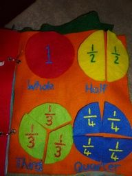 Felt fractions older quiet book My Guide To Home Made: Quiet /Busy book for older kids