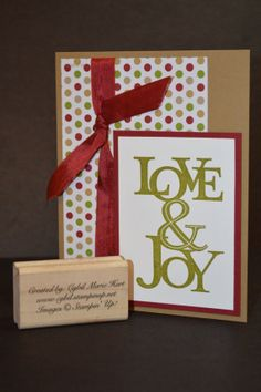 Love & Joy Hand-Made Christmas Card