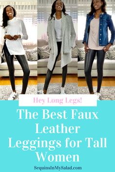 Love the faux leather legging trend but can't find leggings that fit your long legs? Check out this post for affordable vegan leather leggings, because all women can have trendy fashion options! #tallwomensclothing #longinseampants #tallgirloutfits #womensfashion #outfitideas #styleinspiration #fall Leather Leggings Outfit, Faux Leather Leggings, Tall Girl Outfits, Trendy Outfits, Latest Fashion For Women, Trendy Fashion, Affordable Fashion, Winter Fashion Outfits, Autumn Fashion