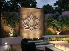 XL Lotus Flower - Crafted in the U. - Exclusively by Arte & Metal As part of our outdoor collection, this inspirin Modern Outdoor Wall Art, Outdoor Walls, Outdoor Metal Wall Decor, Outside Wall Decor, Patio Wall Decor, Modern Metal Wall Art, Large Metal Wall Art, Outdoor Art, Outdoor Lighting