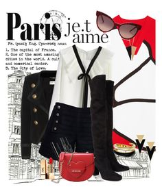 """""""Paris """" by lucia-altomani ❤ liked on Polyvore featuring Kenzo, Yves Saint Laurent, Chicwish, Rumour London, Dolce&Gabbana, Chanel, Natasha Accessories, Love Moschino, Wildfox and Michael Kors"""