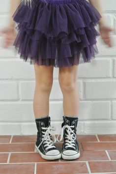 Tutu Skirt with converse sneakers