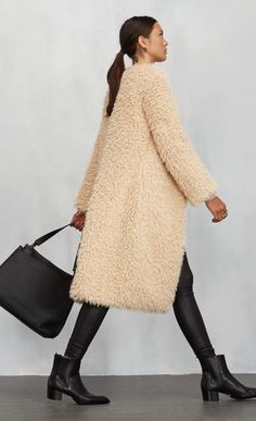 Brixton Coat // Reformation//  furry coat