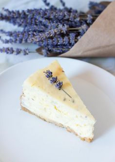 Lemon Lavender Mascarpone Cheesecake