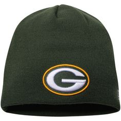 a35985f779e Men s Green Bay Packers New Era Green Solid Uncuffed Knit Beanie
