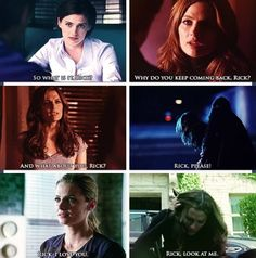When Beckett calls Castle, Rick, you know it's serious! Castle Series, Castle Tv Shows, Castle Quotes, Castle Tattoo, Castle Beckett, Abc Shows, Best Mysteries, Stana Katic, Independent Films