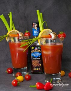 A Bloody Mary recipe that's rich, bright and a bit spicy. As far as classic cocktails go, a Bloody Mary is one of the most umami filled libations out there. Summer Drinks, Fun Drinks, Alcoholic Drinks, Classic Cocktails, Fall Cocktails, Cocktail Drinks, Cocktail Recipes, My Recipes, Favorite Recipes