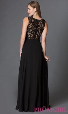 d3c06e44f4 Mock Two-Piece Floor Length Prom Dress with Lace Bodice