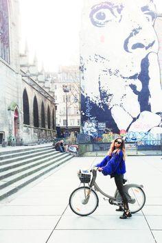 fashiontoast   03/10/2013 basking in the paris sun Sonia Rykiel jacket, J Brand leather pants, Balenciaga cutout boots.