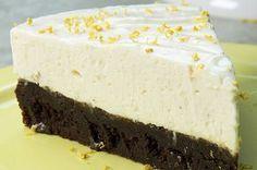 Aprenda a fazer a torta gelada de brownie e limão: | Duvidamos você fazer esta torta gelada de brownie e limão