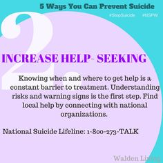 It's National Suicide Prevention Week! Our goal is to Stop Suicide- so let's get started! To break this down into more bite- size chu...