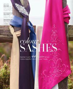 Colour Sashes from David's Bridal